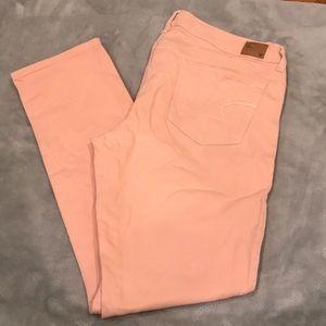 SIZE 14 Skinny Jeans Pink/Pastel Color
